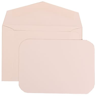 JAM Paper® Wedding Invitation Set, Small, 3 3/8 x 4 3/4, White with White Envelopes and White Rounded Edge, 100/pack (311825210)