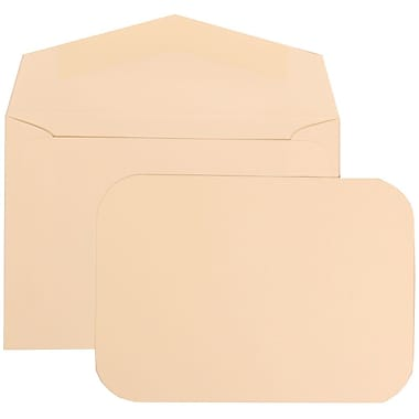 JAM Paper® Wedding Invitation Set, Small, 3 3/8 x 4 3/4, Ivory with Rounded Edges with Ivory Envelopes, 100/pack (311925215)