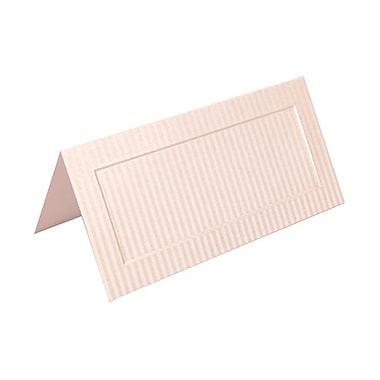 JAM Paper® Foldover Placecards, 2 x 4.25, Silver Pinstripe place cards, 100/pack (312125235)