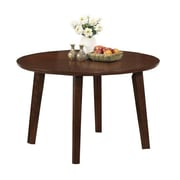 "Monarch Dining Table 48""L x 48""W x 30""H Solid Wood, Veneer, Mdf Antique Oak"