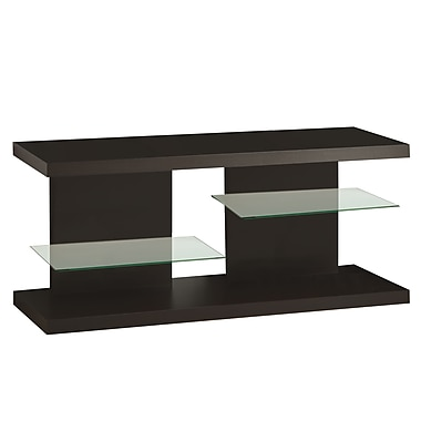 Monarch Wood 20.5in.H x 48in.W x 15.75in.D TV Console Cappuccino