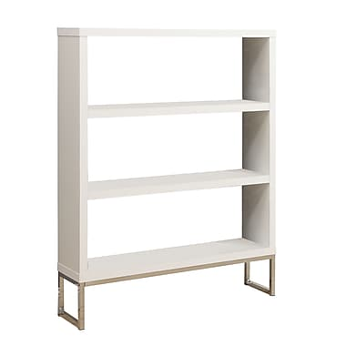 Monarch Wood 60in. H x 47.25in. W x 11.5in. D Book Case White