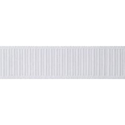 """""Non-Roll Ribbed Elastic 1-1/2"""""""" Wide 25 Yards-White"""""" 459712"