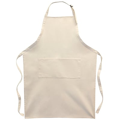 Twill Large Adult 2 Pocket Apron 25 X 35 Natural