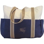"Stitch Happy Three Pocket Tote, 12-1/2""X14""X4"", Navy"