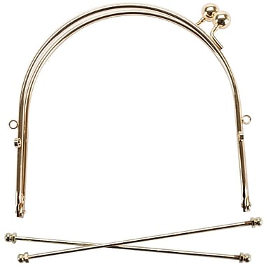 Metal Purse Frame w/Ball Clasp & Loops 6