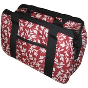"JanetBasket Red Floral Eco Bag, 18""X10""X12"""