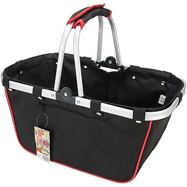 JanetBasket Black/Red Large Aluminum Frame Basket, 18