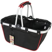 "JanetBasket Black/Red Large Aluminum Frame Basket, 18""X10""X9-1/2"""