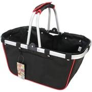 JanetBasket Black/Red Large Aluminum Frame Basket, 18X10X9-1/2