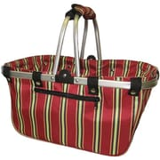 "JanetBasket Red Stripes Large Aluminum Frame Basket, 18""X10""X9-1/2"""
