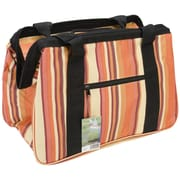 JanetBasket Brown Stripes Eco Bag, 18X10X12