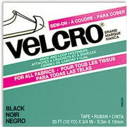 VELCRO(R) brand Sew-On Tape 3/4X30', Black