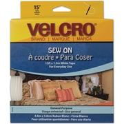 VELCRO(R) brand Sew-On Tape 1-1/2X15', White