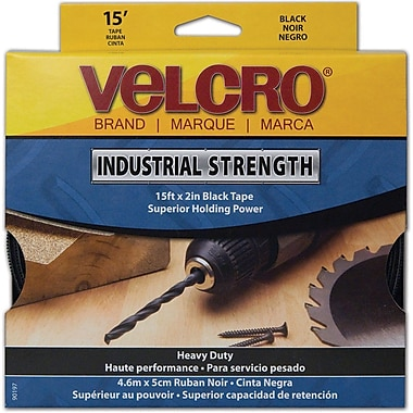 VELCRO® Brand Industrial-Strength Tape, Black