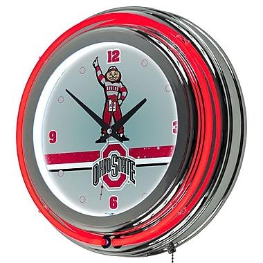 Ohio State Stripe Padded Bar Clock