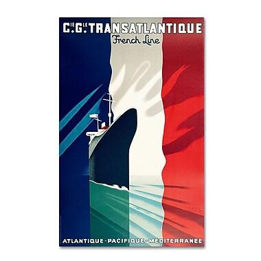 Trademark Fine Art 'Atlantique-Pacifique' 16