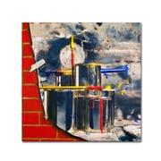 Trademark Fine Art 'Primary Colors 02' 35 x 35 Canvas Art