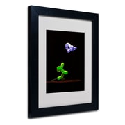 "Trademark Fine Art 'Balloon Puppy' 11"" x 14"" Black Frame Art"