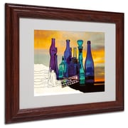 "Trademark Fine Art 'Blue Sunset By Numbers' 11"" x 14"" Wood Frame Art"