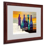 "Trademark Fine Art 'Blue Sunset By Numbers' 16"" x 20"" Wood Frame Art"