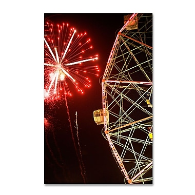 Trademark Fine Art 'Coney Island Wonder Wheel Fireworks' 16