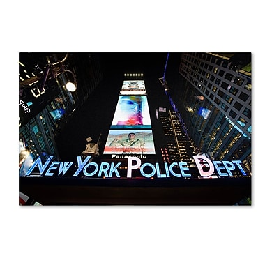 Trademark Fine Art 'NYPD In Blue Neon' 22