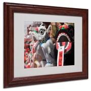 "Trademark Fine Art 'Chinese New Year' 11"" x 14"" Wood Frame Art"