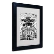 Trademark Fine Art 'Coney Island Wonder Wheel' 11 x 14 Black Frame Art