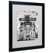 Trademark Fine Art 'Coney Island Wonder Wheel' 16 x 20 Black Frame Art