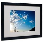 "Trademark Fine Art 'God's Country Color Route 66' 16"" x 20"" Black Frame Art"
