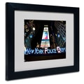 Trademark Fine Art 'NYPD In Blue Neon' 11in. x 14in. Black Frame Art
