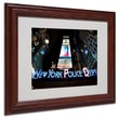 "Trademark Fine Art 'NYPD In Blue Neon' 11"" x 14"" Wood Frame Art"