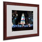 Trademark Fine Art 'NYPD In Blue Neon'