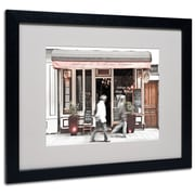 "Trademark Fine Art 'Paris Parisian Bakery' 16"" x 20"" Black Frame Art"