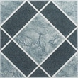 Achim Importing Co Nexus 12'' x 12'' Vinyl Tile in Light and Dark Blue Diamond