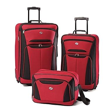 American Tourister® Fieldbrook II 56445 3-Piece Luggage Set, Red/Black