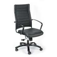 Eurotech High Back Titanium Frame Leather Executive Chair Black