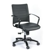 Eurotech High Back Titanium Frame Leather Executive Chair Black Brown