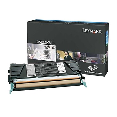 Lexmark C522/524 Black Toner Cartridge (C5222KS), Standard