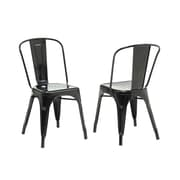 "Monarch Glossy Metal 33"" Cafe Chairs, 2/Pack"