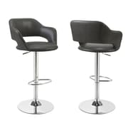 Monarch Chrome Metal Hydraulic Lift Barstools