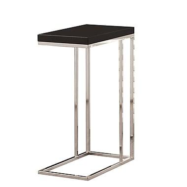 Monarch – Table d'appoint métal chromé/âme creuse, noir lustré