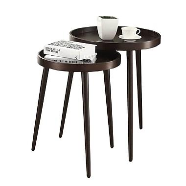 Monarch – Ensemble de 2 tables gigognes, cappuccino