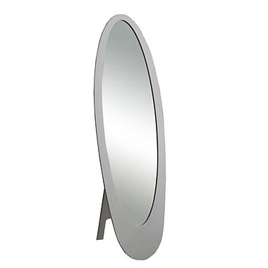 Monarch Contemporary Oval Cheval Mirror, Grey