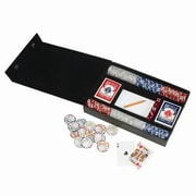 Royce Leather Royce Leather Professional Poker Gaming Set in Bonded Leather; Black