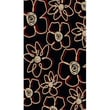 Radici Vesuvio Series II Black/Red Rug; 3'3'' x 4'11''