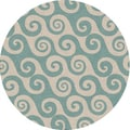 Coastal Living  by Jaipur Rugs Coastal Living(R) I-O Blue Coastal Rug; Round 8'