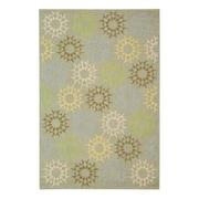 Martha Stewart Rugs Floral Block Quilt Opal Grey Rug; 7'9'' x 9'9''