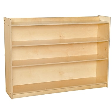 Wood Designs™ Contender™ 35 1/2in.(H) Ready-To Assemble Mobile Adjustable Book Case With Lip